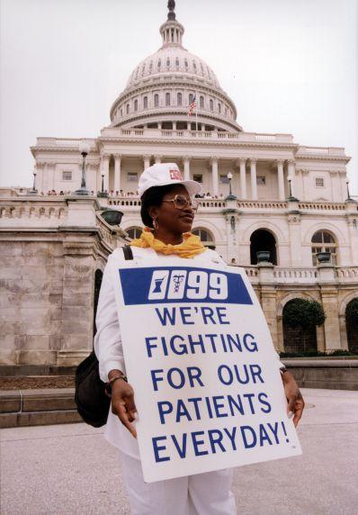(29470) Local 1199, Nurse March, Capital Building, Washington, D.C., 1996