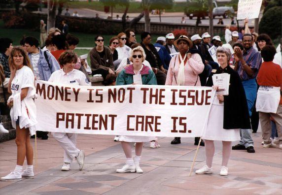"(29475) ""Money is not the Issue, Patient Care Is,"" Nurse March, Washington, D.C., 1996"