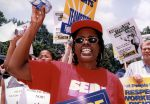 (29478) SEIU Protester, Brazillian Embassy, Washington, D.C., 1996