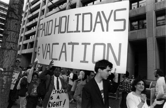 (29493) Justice for Janitors, World Bank Demonstration, 1989