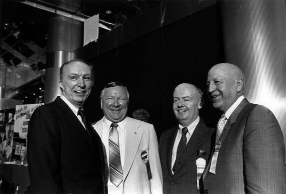 (29534) Tom Donahue, Richard Cordtz, John Sweeney, George Hardy, SEIU Convention, New York, New York, 1980