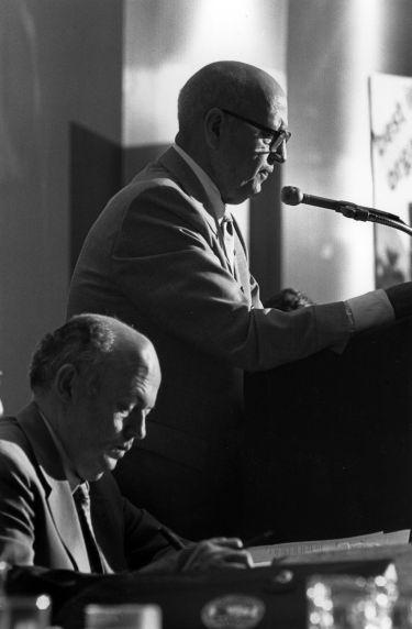 (29538) John Sweeney, George Hardy, SEIU Convention, New York, New York, 1980