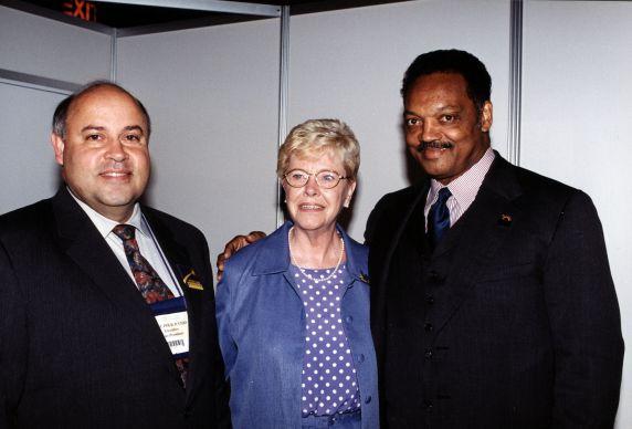 (29697) Betty Bednarczyk, Jesse Jackson, 22nd SEIU Convention, Pittsburgh, Pennsylvania, 2000