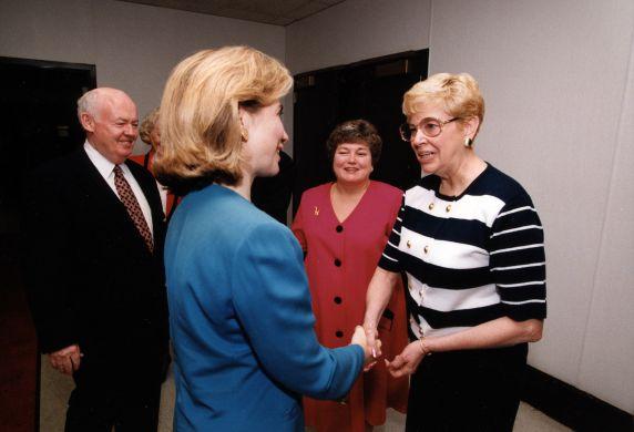 (29698) Hillary Clinton, John Sweeney, Betty Bednarczyk, Legislative Conference and Lobby Day, Washington, D.C., 1995
