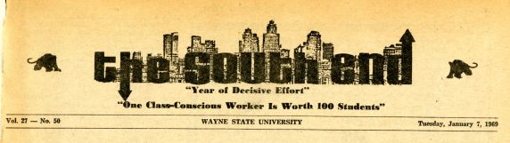 (27977) The South End, Newspaper, 1969