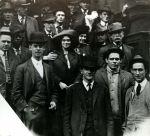 (29931) Matilda Robbins, Ben Fletcher, Group Scene, 1913