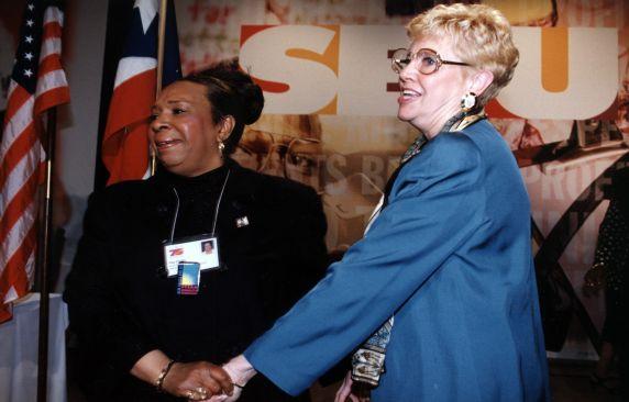 (30600) Fay Childs, Betty Bednarczyk, 21st SEIU International Convention, Chicago Illinois, 1996