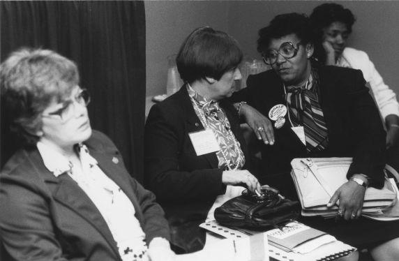 (30376) AFT Vice-President Loretta Johnson, Phyllis Korfeld
