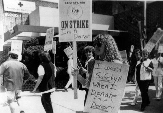 (30405) SEIU Local 535 Nurses Picketing, Nurse Recognition Day, 1983
