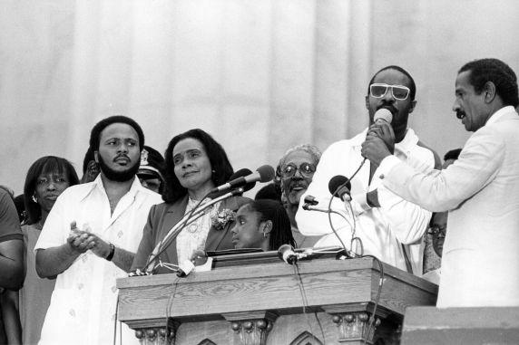 (30582) Coretta Scott King, Stevie Wonder, Martin Luther King 20th Anniversary March, 1983
