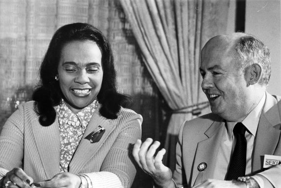 (30585) Coretta Scott King, John Sweeney, 1199 / SEIU Healthcare Conference, 1981