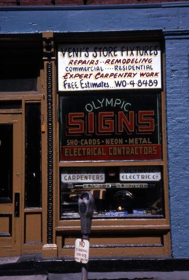 (30673) Businesses, Greektown, Detroit, 1966