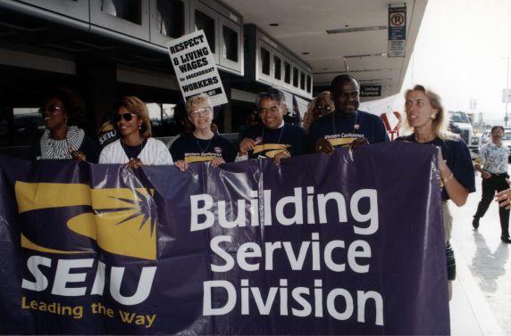 (30774) Eliseo Medina, SEIU Local 1877, Justice For Janitors Demonstration, LAX, 1998