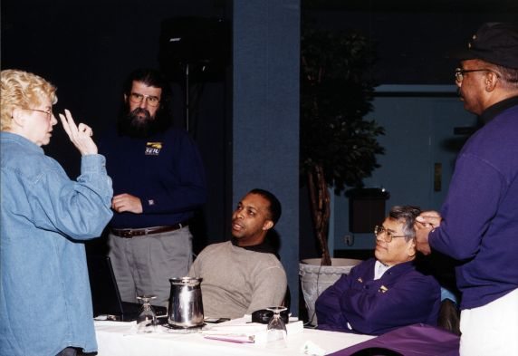 (30775) Betty Bednarczyk, Eliseo Medina, PC2K Retreat, Wintergreen, VA, 1999