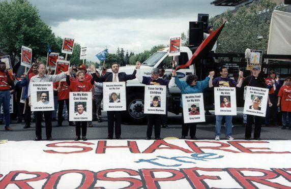 (30778) Eliseo Medina, Demonstration Line, San Jose, CA, 2000
