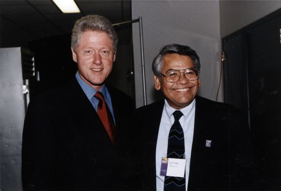 (30782) President Bill Clinton, Eliseo Medina, Washington, D.C., 1997