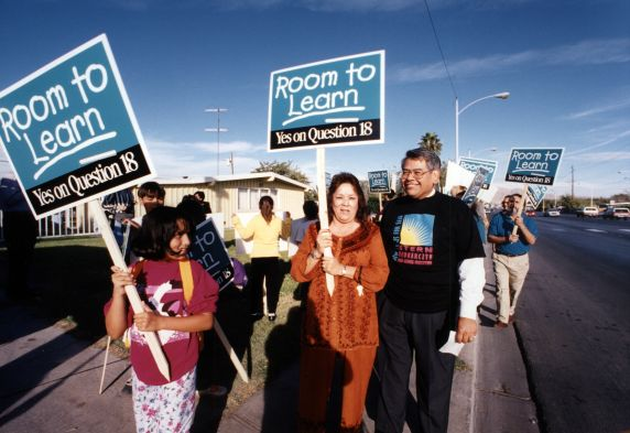 (30783) Eliseo Medina, Labor '96 Demonstration, Las Vegas, NV, 1996