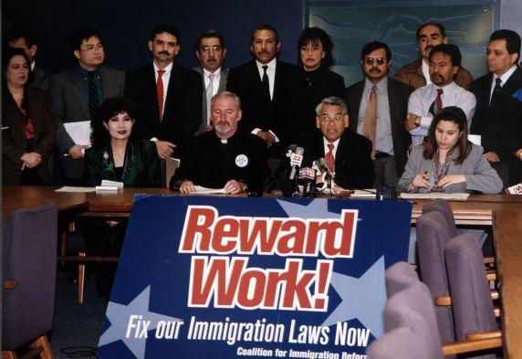 (30784) Eliseo Medina, Immigration Press Conference, Los Angeles, CA, 2001