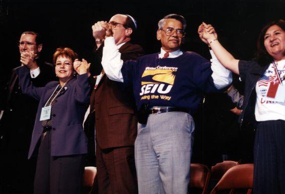 (30787) Eliseo Medina, Justice for Janitors Forum, Los Angeles, 2000