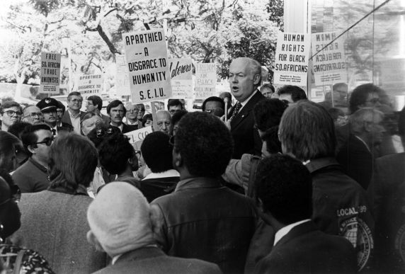 (30851) South African Consulate Demonstration, Los Angeles, California, 1984