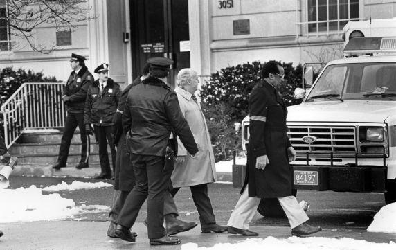 (30853) John Sweeney Arrest, South African Embassy Demonstration, Washington, D.C., 1985