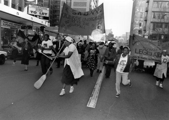 (30867) SADWU March, Living Wage, Johannesburg, South Africa, 1990