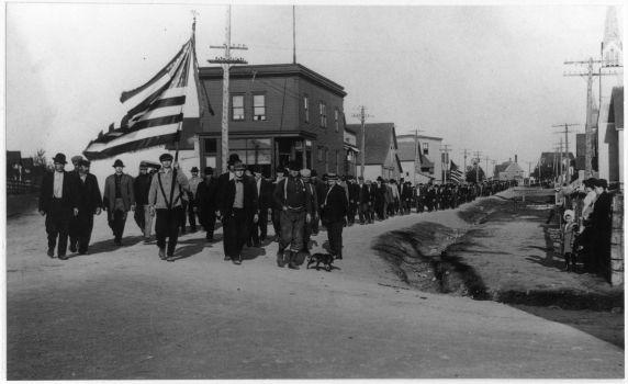 (30870) Copper Country Strike, Demonstrations, Calumet, Michigan, 1913