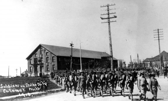 (30875) Copper Country Strike, Soldiers, Strike Duty, 1913