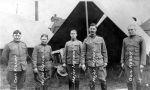 (30878) Copper Country Strike, Soldiers, Strike Duty, Calumet, Michigan, 1913
