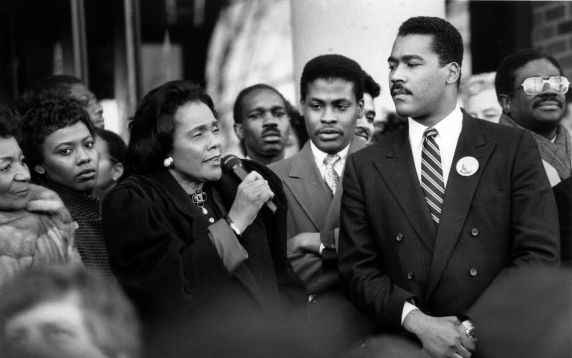 (31019) Martin Luther King, Jr. Day, Coretta Scott King, Dexter Scott King, Atlanta, Georgia, 1989