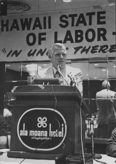 (31268) David Selden Speaking at a Hawaii State Federation of Teachers Meeting