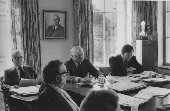 (31271) David Selden and Jack Golodner at a Meeting of Department of Professional Employees