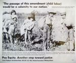 (31527) Pay Equity Poster, Child Labor Analogy, 1982