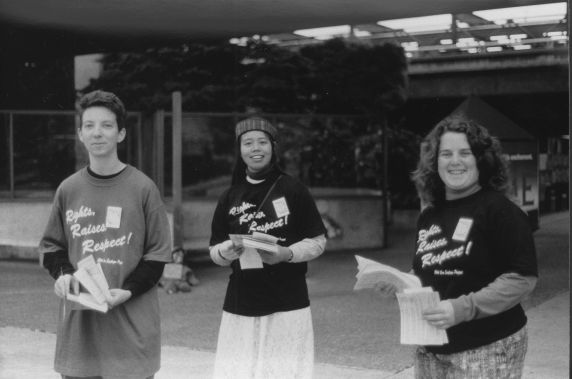 (31533) CCW Members Handing Out Informational Leaflets