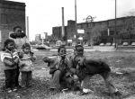 (31832) Poletown, Land Clearances, Children, Detroit, 1981