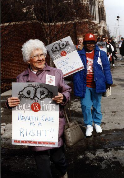(31833) SEIU Local 79, National Healthcare Action Day, Detroit, Michigan, 1994