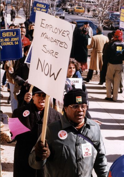 (31834) Healthcare Reform Action Rally at the Us Chamber of Commerce with Jobs with Justice, 1994