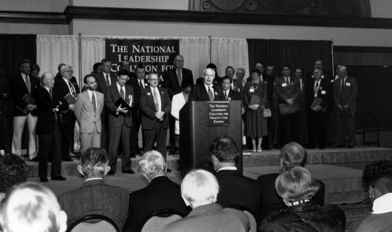 (31835) John Sweeney, National Leadership Coalition for Healthcare Reform PRess Conference, 1994