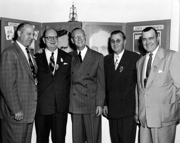 (31848) SEIU Leaders, George Hardy, David Sullivan, William McFetridge, William Cooper, 1950s