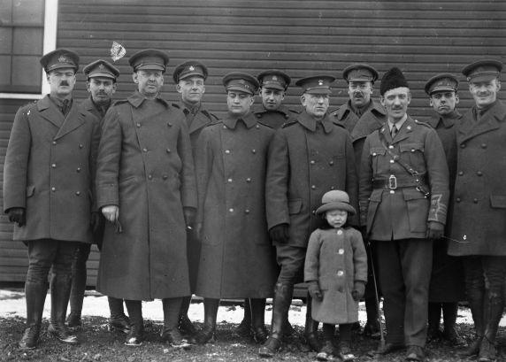 (32103) Officers, 99th Batallion, Deployment, Canada, 1910s