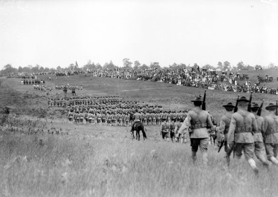 (32139) Army, Camp Grayling, Drill Grounds, 1917-1918