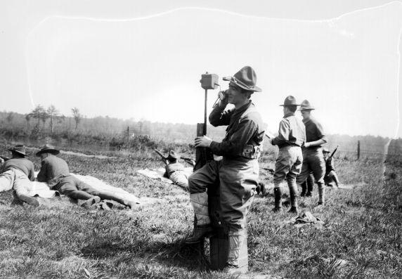 (32140) Army, Training Camp, Rifle Range, 1918