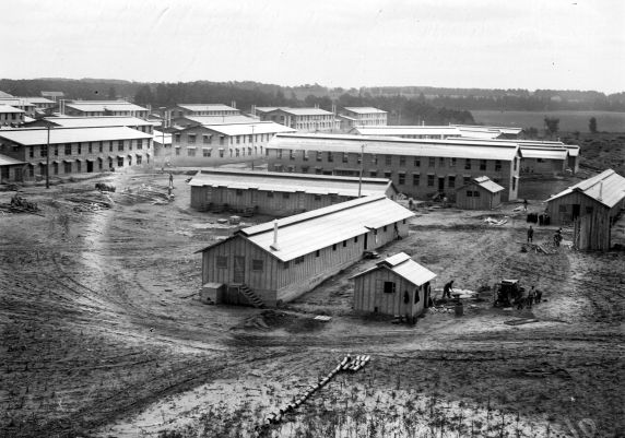 (32142) Army, Camp Custer, General View, 1910s