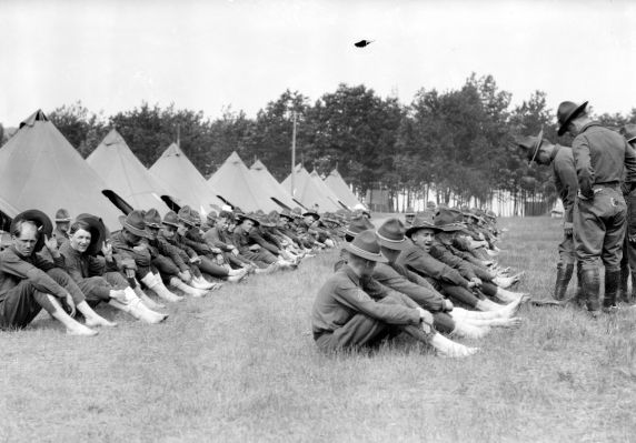 (32156) Army, Training Camps, Health & Saftey, 1917-1918