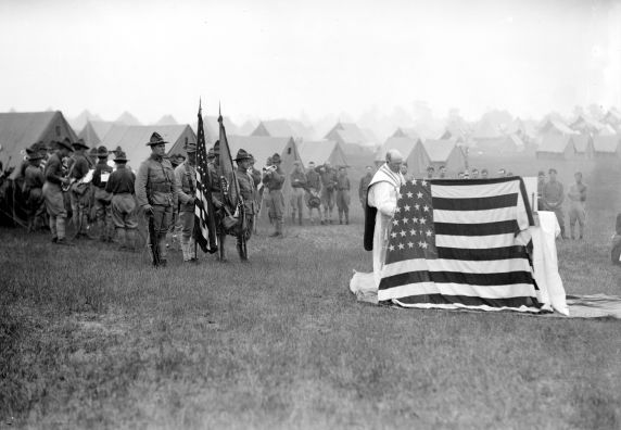 (32169) Army, Training Camp, Religious Services, 1917-1918