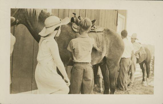 (32324) Horseback riding at Merrill-Palmer Summer Camp