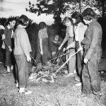 (32335) Roasting Marshmallows on a Campfire, Merrill-Palmer Summer Camp