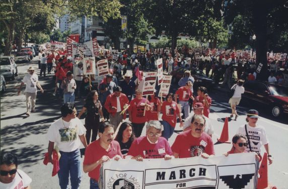 (32466) Justice for Janitors demonstration, Local 1877, Sacramento CA, 1997