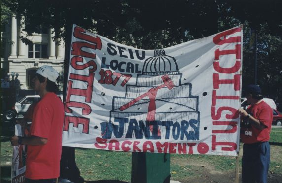 (32468) Justice for Janitors demonstration, Local 1877, Sacramento CA, 1997