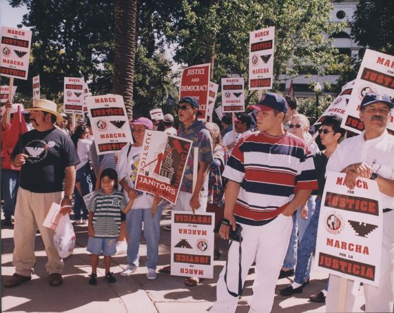 (32469) Justice for Janitors demonstration, Local 1877, Sacramento CA, 1997